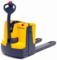 Electric Walkie Pallet Truck is compact and maneuverable.