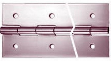 Hinges resist corrosion in marine environments.