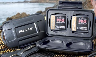 Protective Cases keep flash media dry and secure.