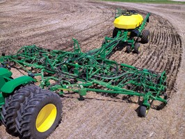 Air Hoe Drills offer depth control for seed and fertilizer.