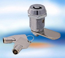 Cam Locks feature 7-pin tumbler and tubular keys.
