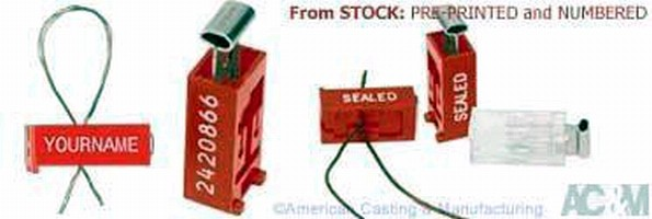 Plastic Wire Security Seal offers alternative to lead.