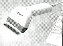 Barcode Reader employs safe LED light source.