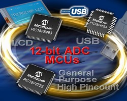 Microchip Technology Adds 12-bit ADC to High-Performance USB, LCD and General-Purpose 8-bit PIC® Microcontroller Families