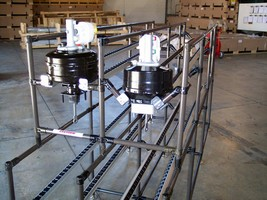 Economical, Custom-Designed Flow Rack RX For In-Process Parts Handling