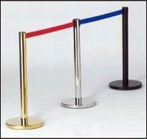 Retractable Belt Stanchions provide crowd control.