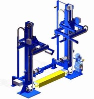 Pallet Load Stacker automatically adjusts to size of pallet.