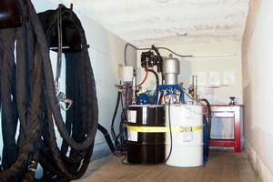 Innovative Mobile Foam Insulation Spraying Rig