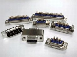 D-Sub Connector features high-density design.