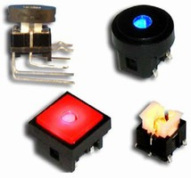 Right Angle Pushbutton Switch featues LED illumination.