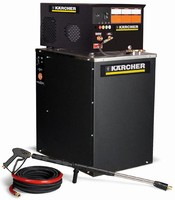 Electric Hot Water Pressure Washer performs indoor cleaning.