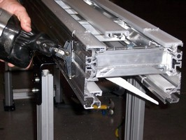 Conveyor can be reconfigured to meet changing applications.