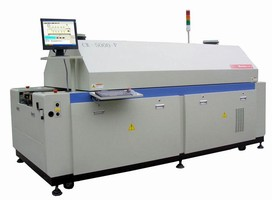 Reflow Oven is contained in 10 ft long unit.