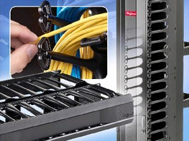Cable Management Systems offer tool-less, snap-in mounting.