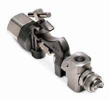 Clean Air Atomizing Nozzle features 2 gas ports.