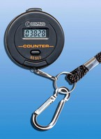 Digital Counter includes key-chain and wrist-strap.