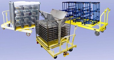 Flat Deck Cart provides mounting platform.