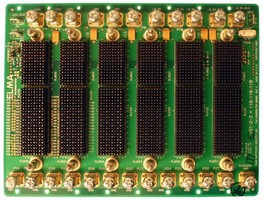 Six-Slot 3U VPX Backplane utilizes twisted-ring topology.