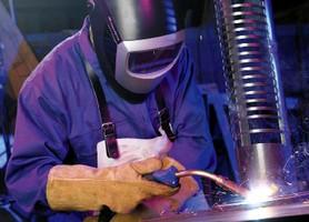 Welding Torch features comfortable grip.