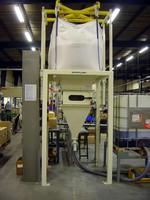 Bulk Bag Discharger controls discharge of poor flow materials.