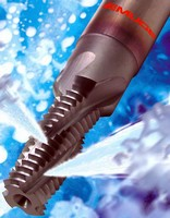 Solid Carbide Thread Mills have internal coolant supply.