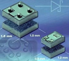 Flip Chip Schottky Diodes come in chip scale packages.