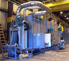 Gas-Fired Conveyor Oven dries moisture off aluminum coils.