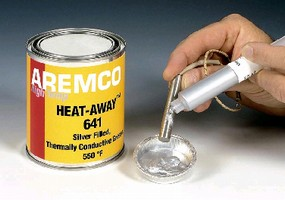 Grease features thermally conductive properties.