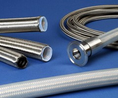 PTFE Hose handles temperatures from -65 to +450°F.