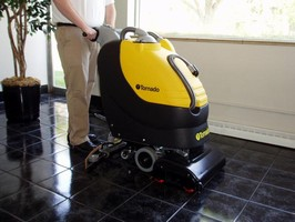 Floor Scrubbing Machines offer 67 dB operation.