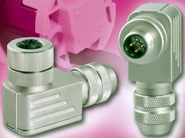M12 Angled Connectors feature cage clamp termination.