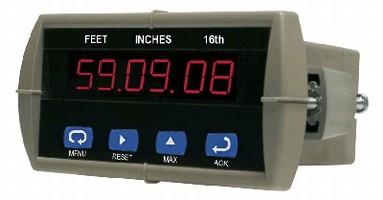 Display Meter indicates level of storage tanks.
