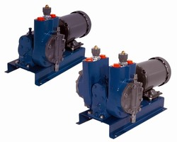 Diaphragm Metering Pumps are hydraulically actuated.