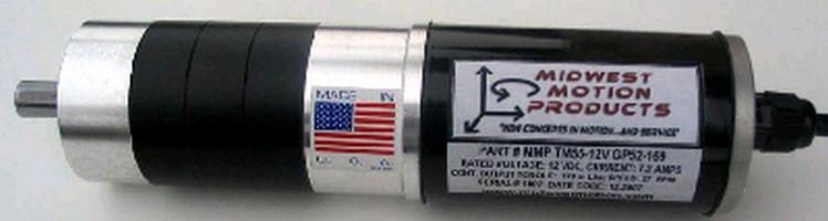 DC Gearmotor develops 170 lb-in. torque at 27 rpm.