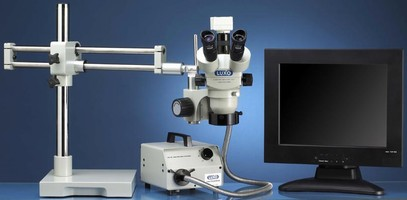 Microscopes offer simultaneous on-screen, eyepiece viewing.