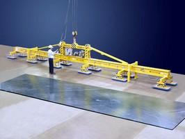 Custom Vacuum Lifter handles 48 x 8 ft. steel plate.