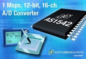 A/D Converter handles communications and DAQ applications.