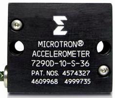 Accelerometer features onboard temperature compensation.