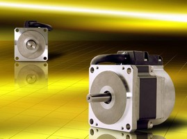 AC Servo Motors deliver peak torque of up to 33.63 lb-in.