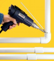 Plastic Welding Kit repairs broken pipe without glue.