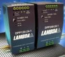 DIN Rail-Mount Power Supplies come in 120 and 240 W models.