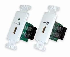 Converter transmits HDMI over CAT5e or CAT6 cables.