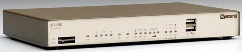 ADSL Router allows secure communication between remote sites.