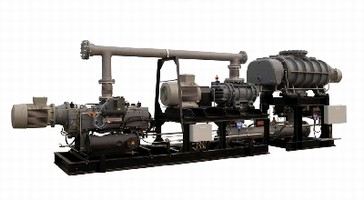 Dry Vacuum Pump System suits degassing of steel alloys.