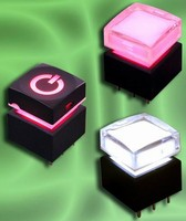 Illuminated Pushbutton Switch has various cap styles.