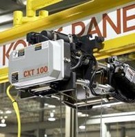 Electric Wire Rope Hoist has low-headroom, blanaced design.