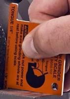 Bench Grinder Safety Scale ensures OSHA, ASNI compliance.
