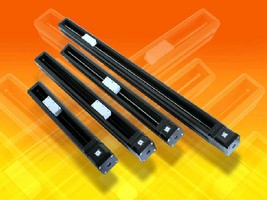 Linear Rail Systems feature self-adjusting linear bearing.
