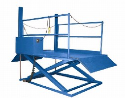 Dock Lift requires only concrete pad and power source.