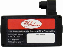 Differential Flow Transmitter measures up to 125 psig.